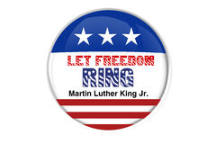 Patriotic badge: Let freedom ring Royalty Free Stock Images