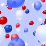 Patriotic balloon background. Background pattern of patriotic balloons - vector version is seamless tile Royalty Free Stock Photography