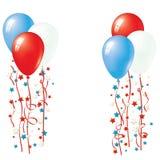 Patriotic Balloon Vector. Balloon Collection Stock Image