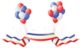 Patriotic Balloons and Banner Royalty Free Stock Image