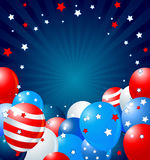 Patriotic balloons border. Patriotic border of multicolored balloons Royalty Free Stock Photography