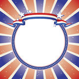 Patriotic Banner on Decorative Star Lined Circle Royalty Free Stock Images