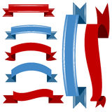 Patriotic Banner Icon Set Royalty Free Stock Photo