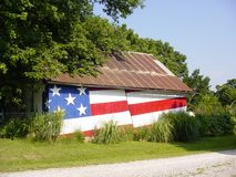 Patriotic Barn Stock Image