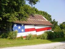 Patriotic Barn stock image