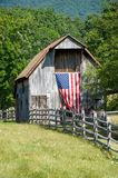 Patriotic Barn royalty free stock image