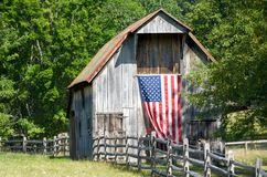 Patriotic Barn Royalty Free Stock Images