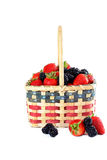 Patriotic basket of fresh fruits. Stock Photos