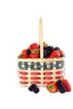 Patriotic basket of fresh fruits. Stock Photos