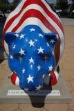 Patriotic bear statue