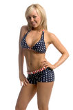 Patriotic Bikini Blonde Royalty Free Stock Images