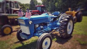 Patriotic Blue on the farm Royalty Free Stock Image