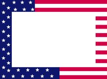 Patriotic border Stock Image