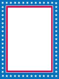 Patriotic border. Blue and red patriotic stars and stripes page  border / frame design Royalty Free Stock Photos