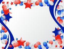 Patriotic Border. Illustrated stars and ribbons for patriotic background Stock Photography