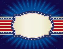 Patriotic border background Royalty Free Stock Images
