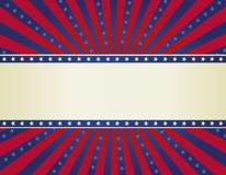 Patriotic border background Stock Image