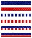 Patriotic border divider Stock Images