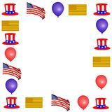Patriotic Border Royalty Free Stock Images