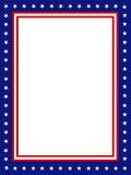 Patriotic border / frame. Blue and red patriotic stars and stripes background Royalty Free Stock Image