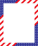 Patriotic border frame. A vector drawing represents patriotic border frame design Stock Photo