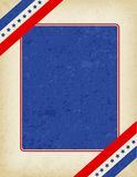 Patriotic Border. Red and blue American flag grunge border / frame Royalty Free Stock Image