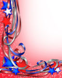 Patriotic Border Stars and Ribbons Stock Photography