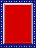 PAtriotic border USA. Blue and red patriotic stars and stripes background Stock Images