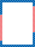Patriotic border Royalty Free Stock Photography