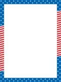 Patriotic border royalty free illustration