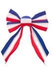 Patriotic bow Royalty Free Stock Photos