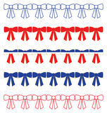 Patriotic Bow Borders Royalty Free Stock Image