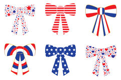 Patriotic Bows Royalty Free Stock Photography