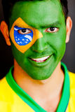 Patriotic Brazilian man Royalty Free Stock Images