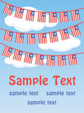 Patriotic bunting flags Stock Photography