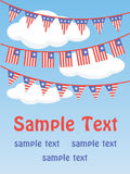 Patriotic bunting flags Stock Images