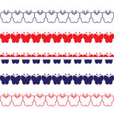 Patriotic Butterfly Borders Royalty Free Stock Photography