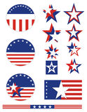 Patriotic Buttons - USA Royalty Free Stock Photos