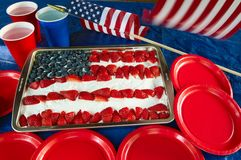 Patriotic cake Royalty Free Stock Photography