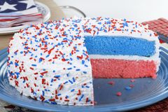 Patriotic Cake Royalty Free Stock Images