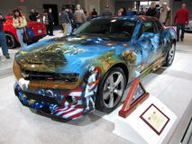 Patriotic Camero Royalty Free Stock Image