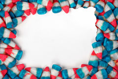 Patriotic candy corn border Stock Photography
