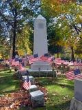 Patriotic Cemetery Monument 2 Stock Image