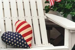 Patriotic chair royalty free stock photos