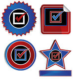 Patriotic - Check Mark Royalty Free Stock Images
