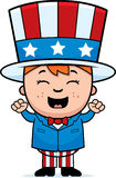 Patriotic Child Excited Stock Photo
