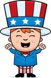 Patriotic Child Excited Stock Photo