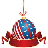 Patriotic Christmas banner Stock Image
