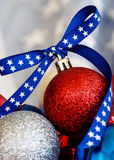Patriotic Christmas ornament Stock Photo