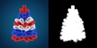 Patriotic Christmas Tree of Great Britain, Australia, USA, New Zealand Royalty Free Stock Images